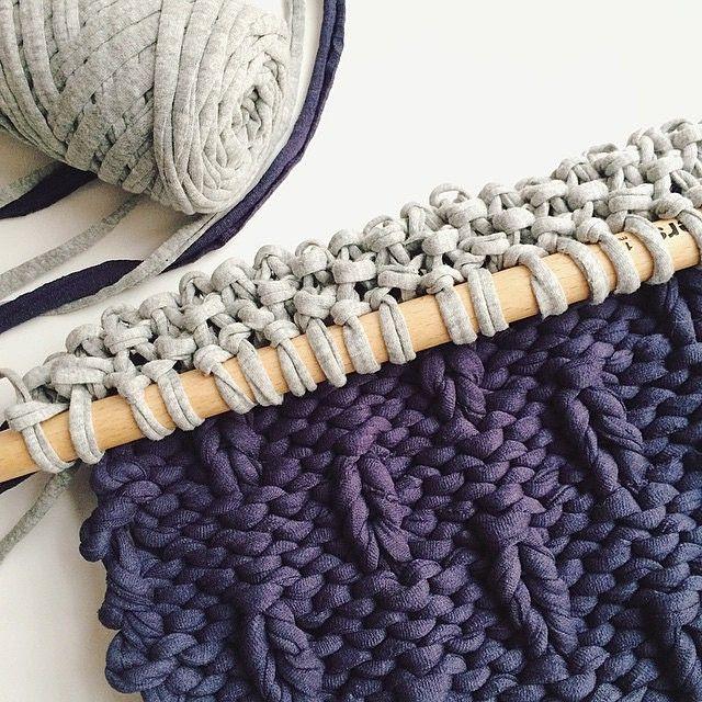 Вязание из трикотажной ленты спицами 54