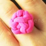 Кольцо из трикотажной пряжи