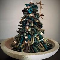 новогодняя елка из трикотажа