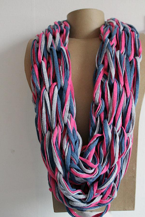 трикотажная пряжа шарф