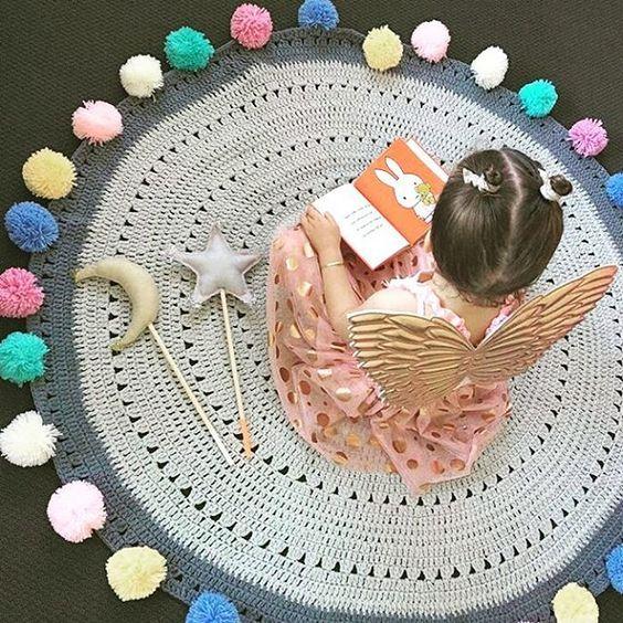 Вязание из толстой пряжи ковриков 456