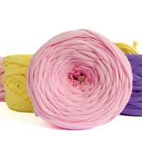 т-пряжа розовая