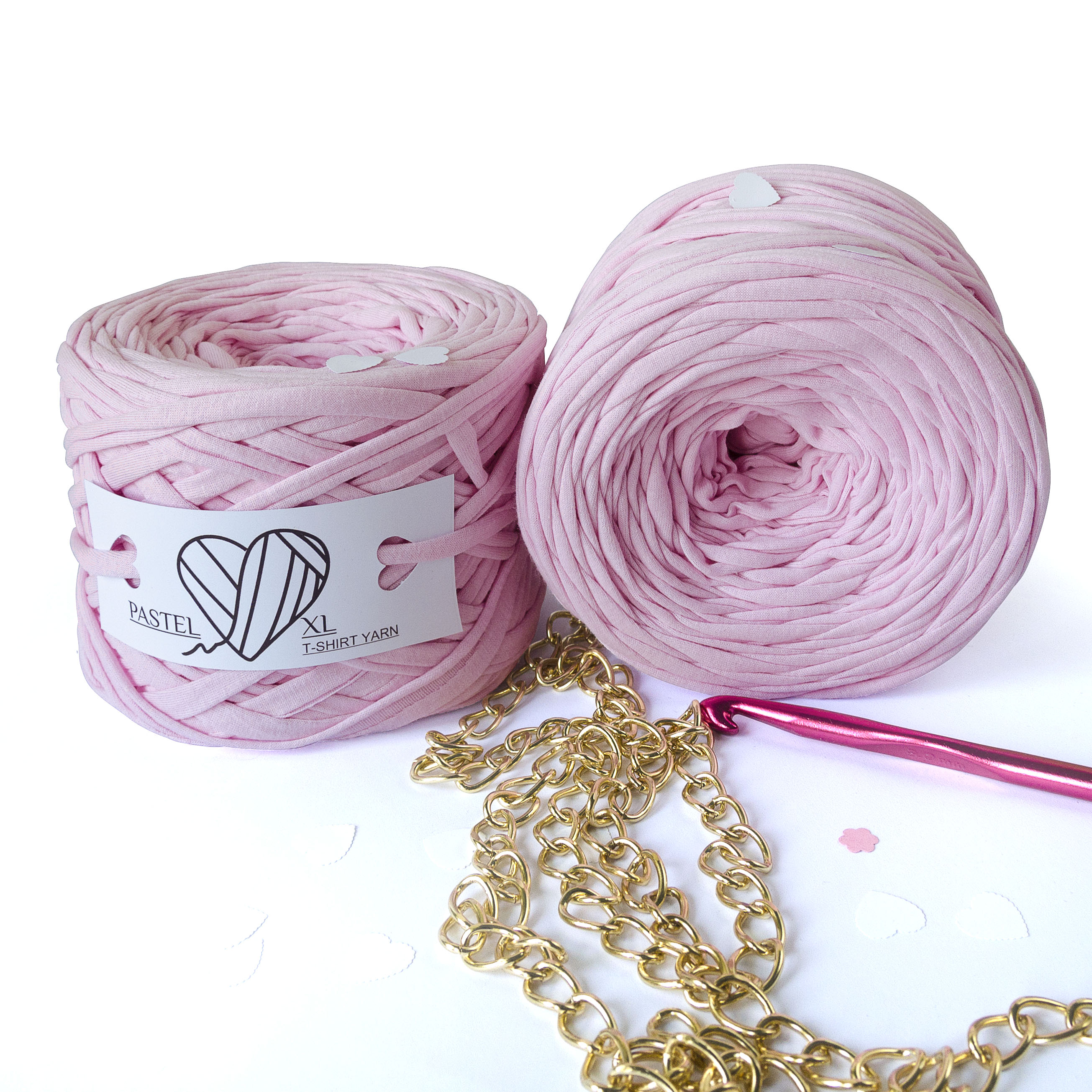 Трикотажная пряжа Pastel XL Светлый Розовый (85м)