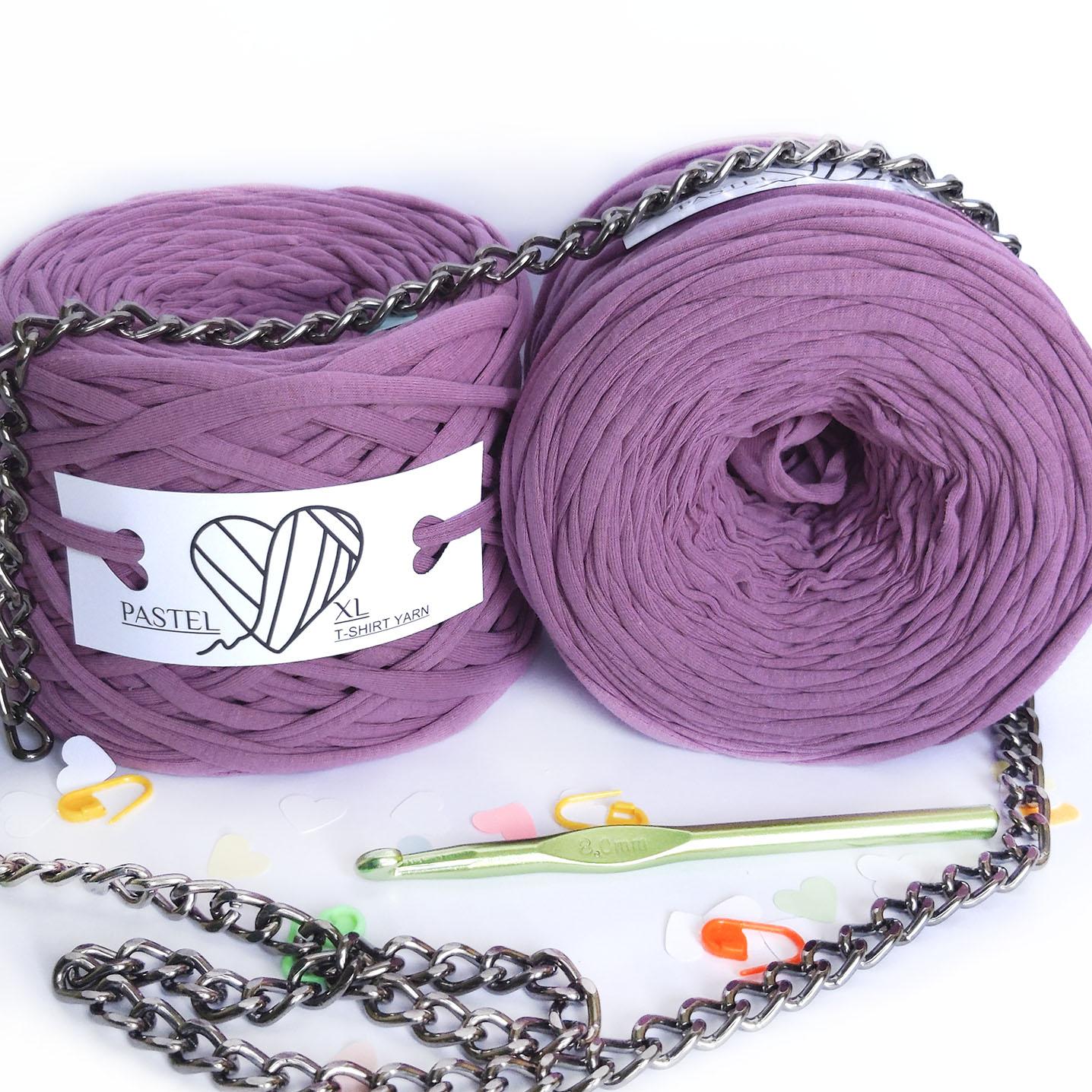 Трикотажная пряжа Pastel XL Розовая сирень