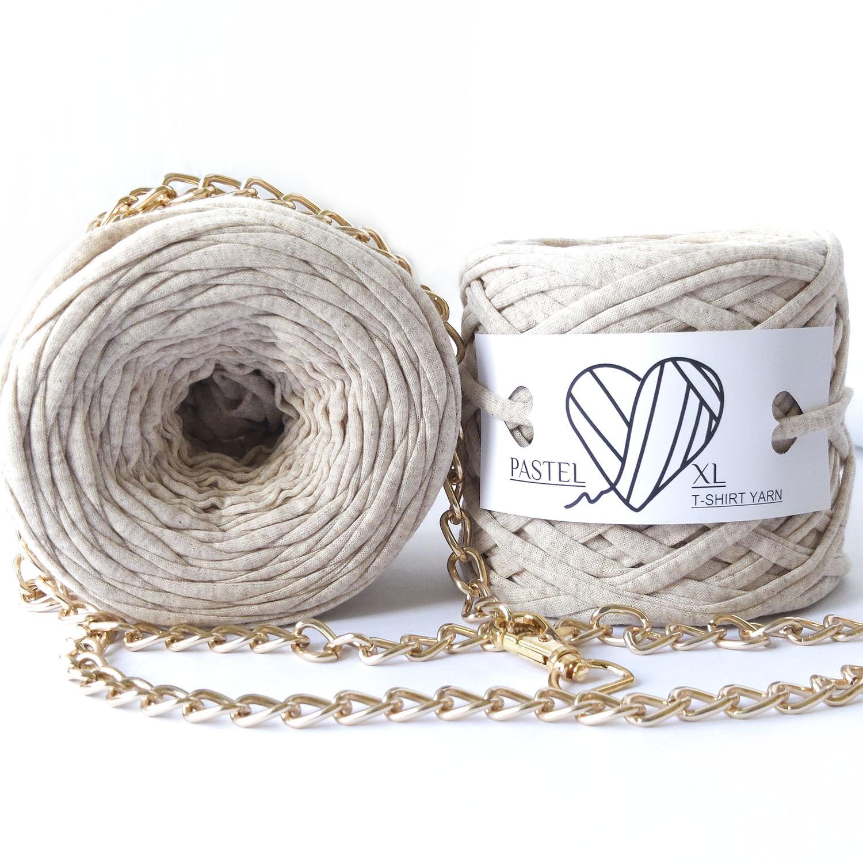Трикотажная пряжа Pastel XL Бежевый Меланж (50м)