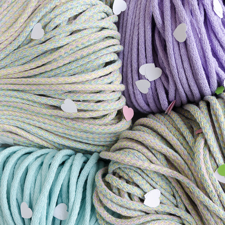 Плетение шнуров из пряжи на вязальной 34