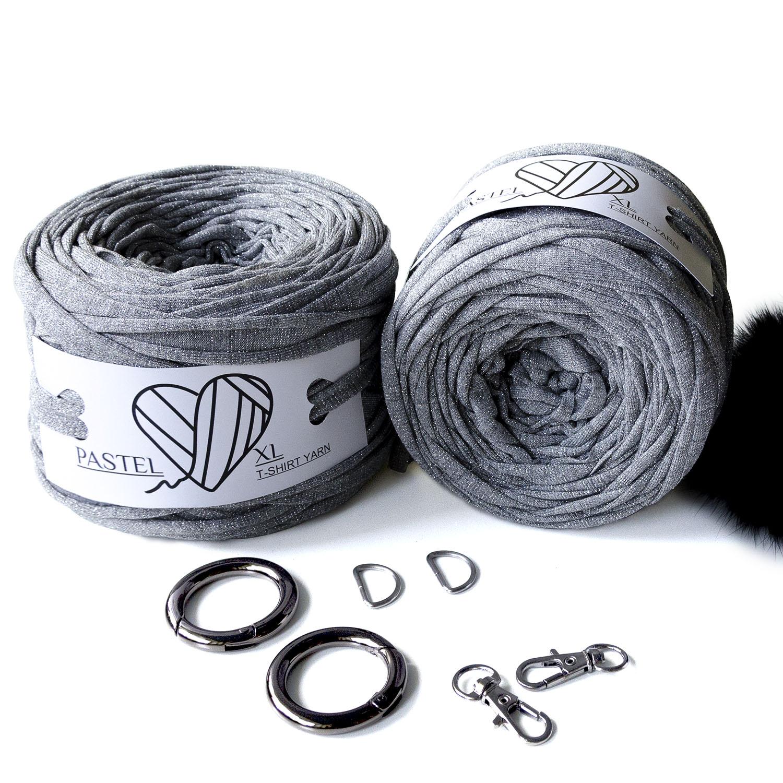 трикотажная пряжа серебро