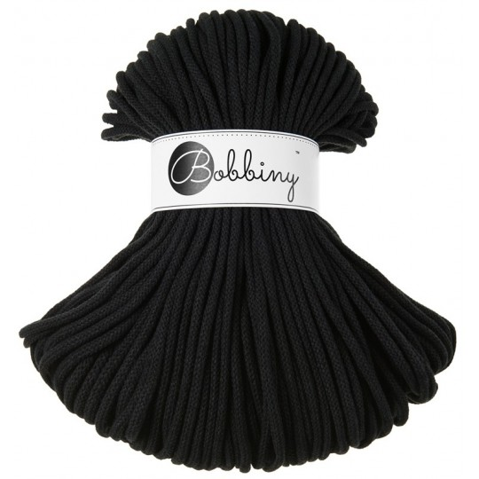 Хлопковый шнур Bobbiny Black 5мм