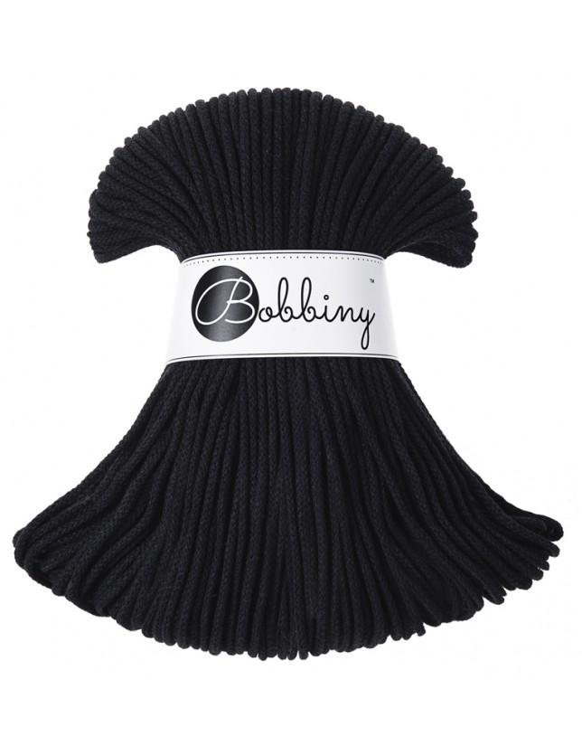 Трикотажный хлопковый шнур Bobbiny Черный (3мм)