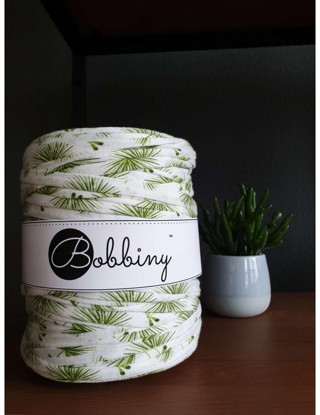 Трикотажная пряжа Bobbiny узор Зеленые пальмы
