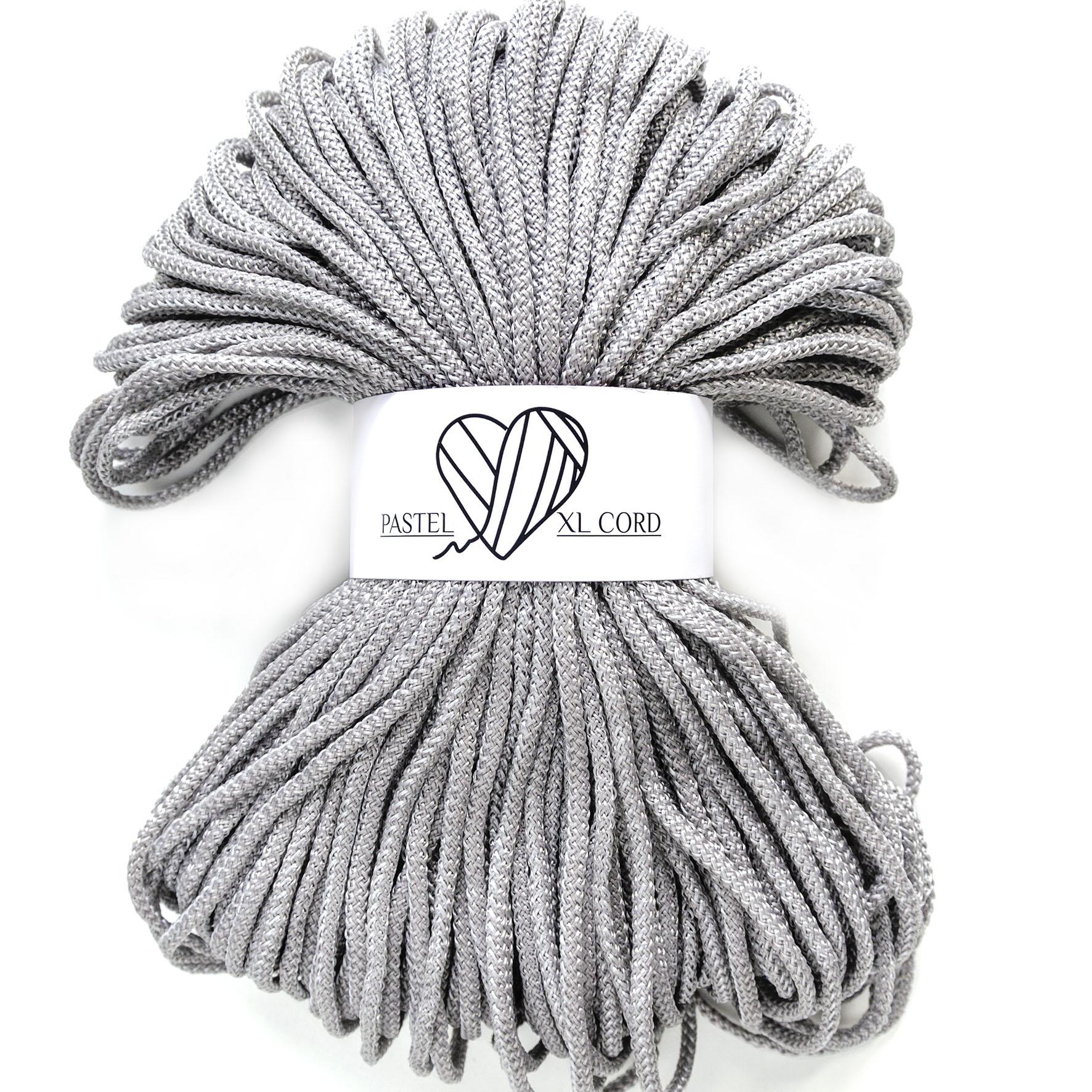 Полипропиленовый шнур Pastel XL cord Серебро