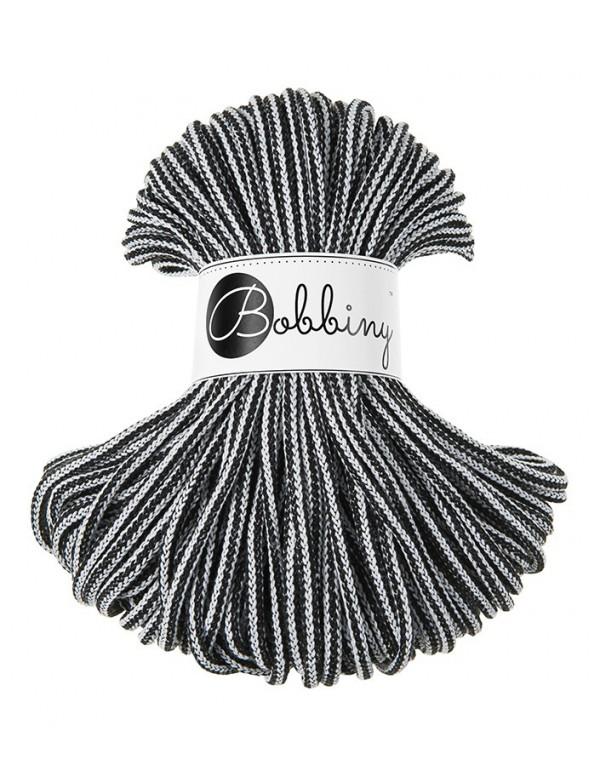 Трикотажный хлопковый шнур Bobbiny Rope Черно-Белый