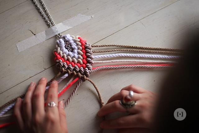 руководство по плетению ожерелье макраме