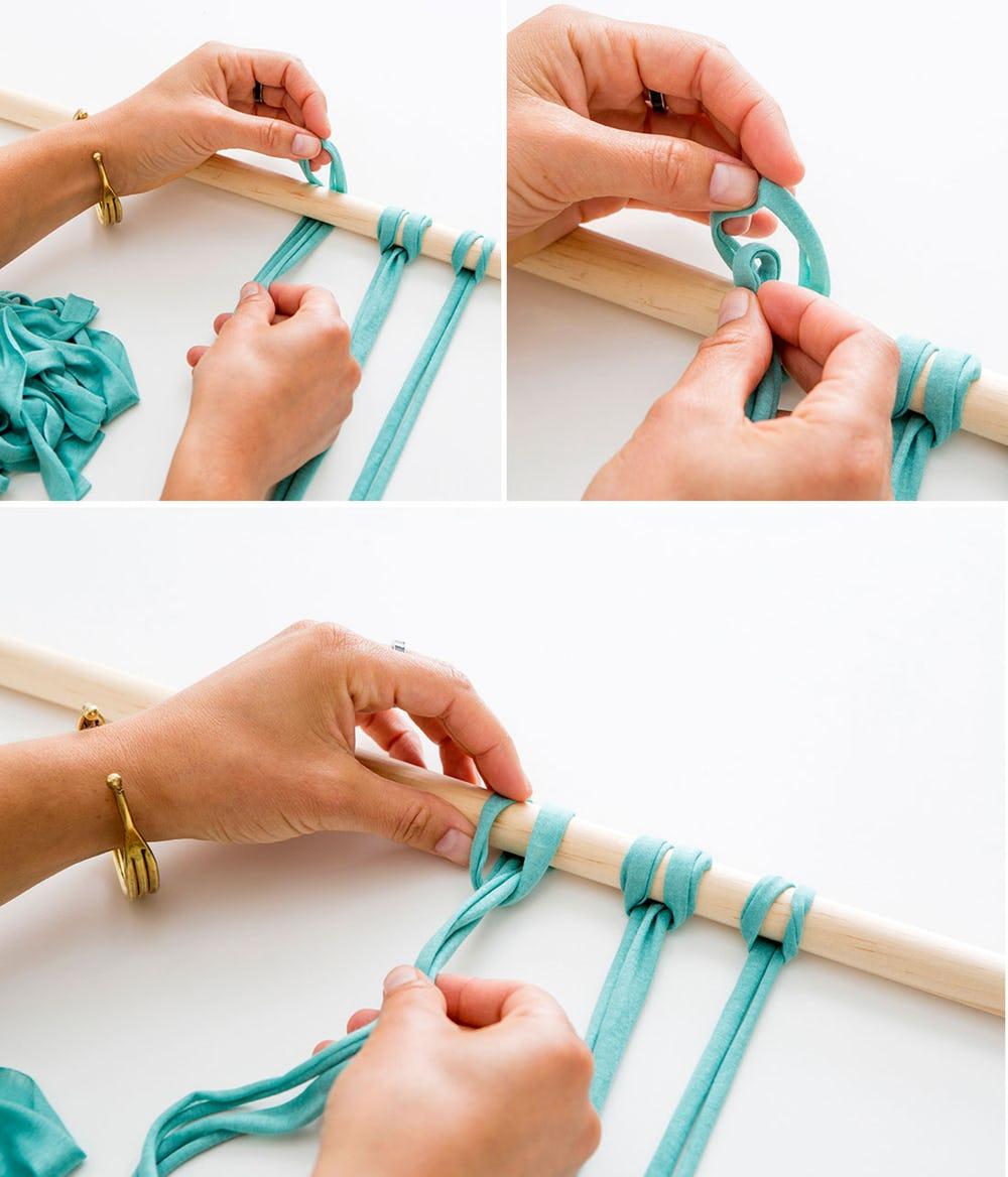 Вяжем основу для панно из трикотажной пряжи
