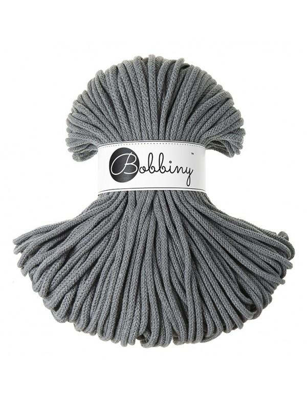 Трикотажный хлопковый шнур Bobbiny 5мм Сталь