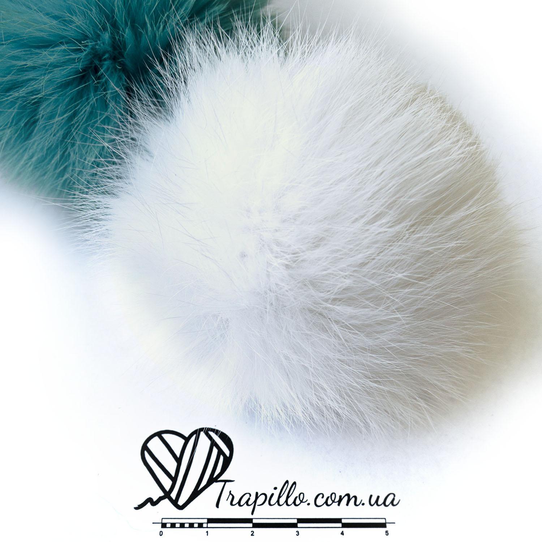 Помпон из меха кролика Ваниль