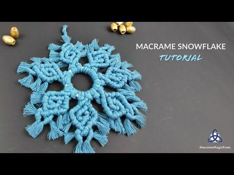 Видео-урок по плетению снежинок макраме