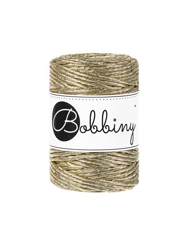 Шнур для макраме Bobbiny Metallic Золото 3мм