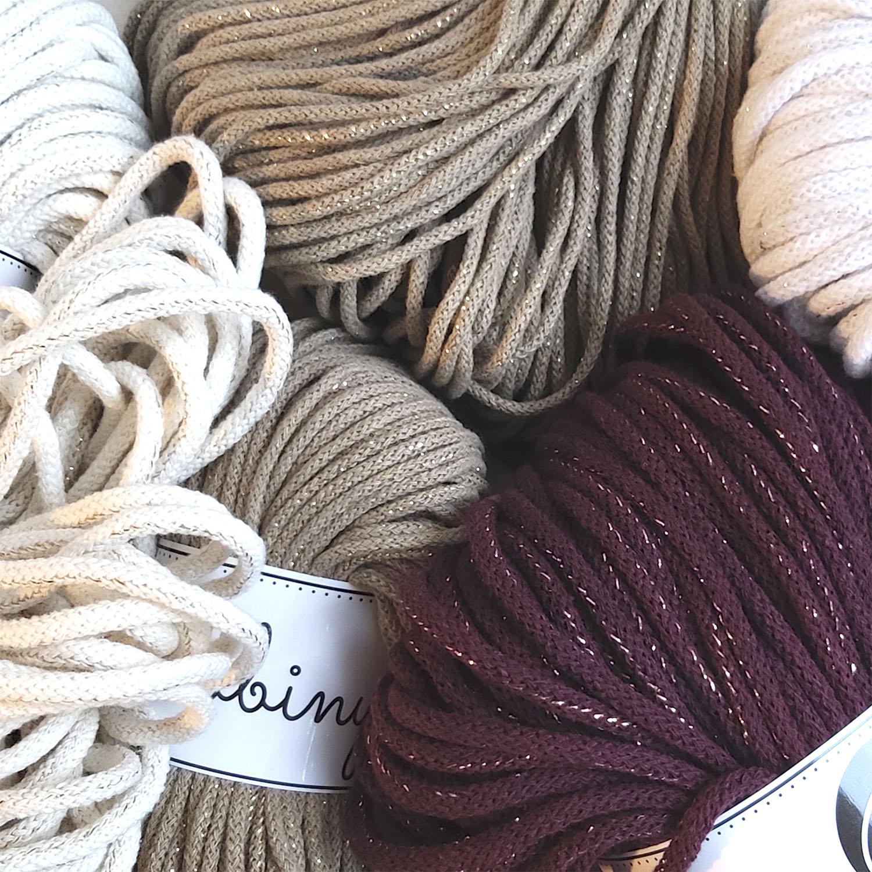 Шнуры для вязания с люрексом