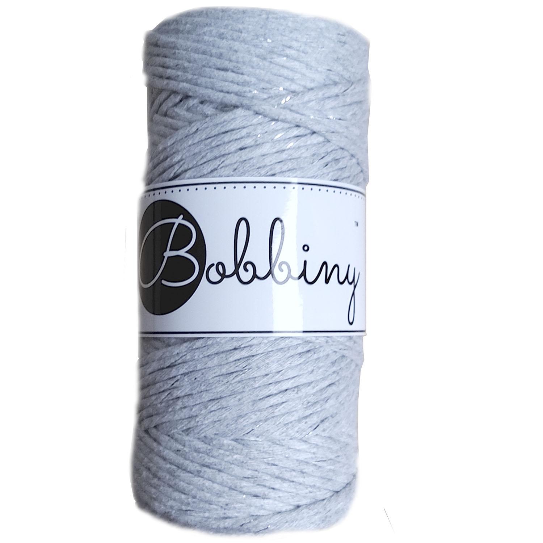 Шнур для макраме Bobbiny Светлый серый с Серебром 3мм