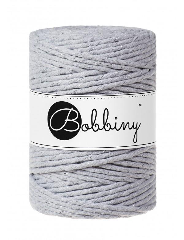 Шнур для макраме Bobbiny Светлый серый с Серебром 5мм