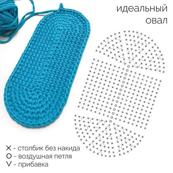 Схема для вязания крючком Овал