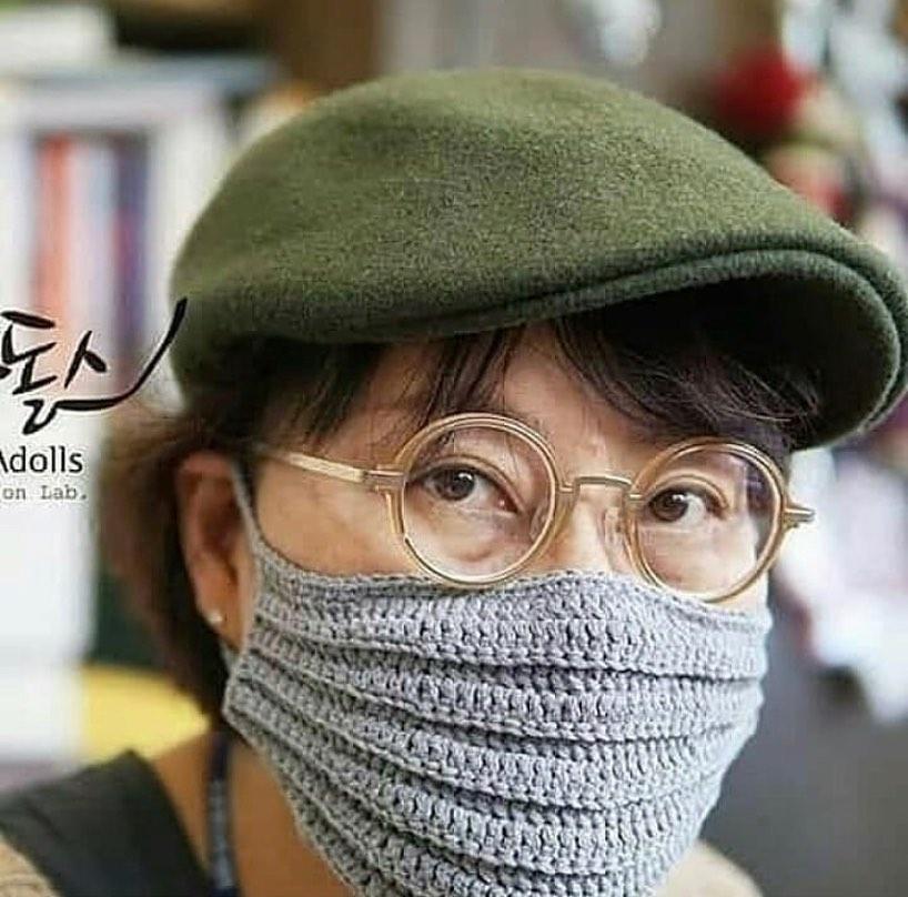 Схема вязания маски
