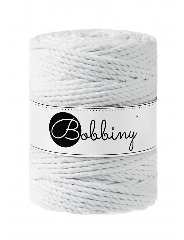 Шнур для макраме Bobbiny Белый 3PLY 5мм