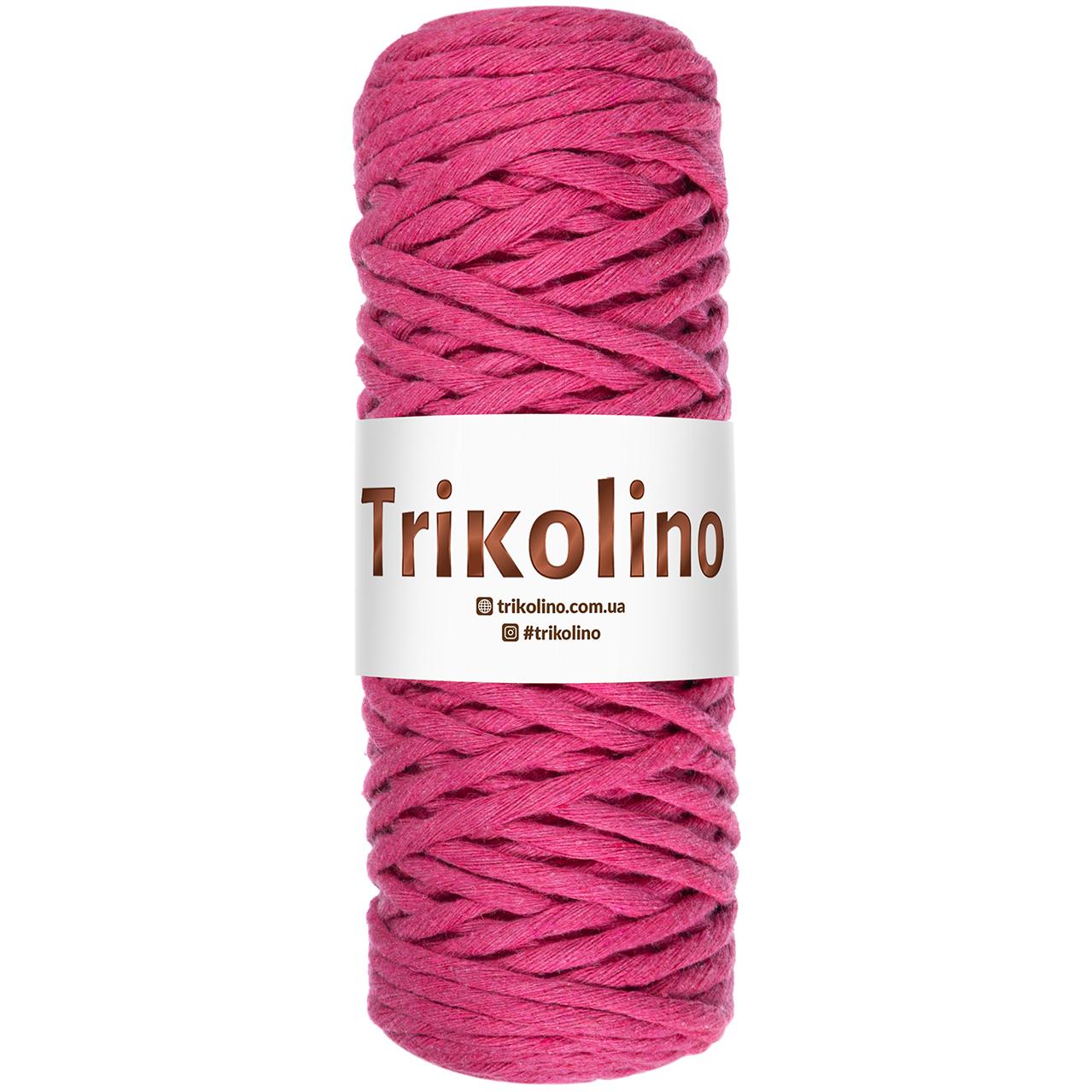 Шнур для макраме Trikolino Малиновый 4-6мм