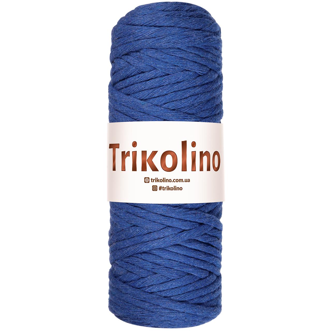 Шнур для макраме Trikolino Синий 4-6мм