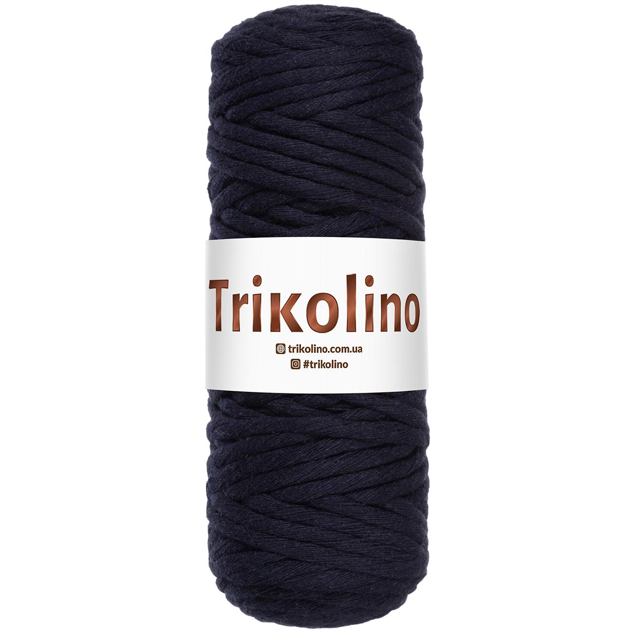 Шнур для макраме Trikolino Темный синий 4-6мм