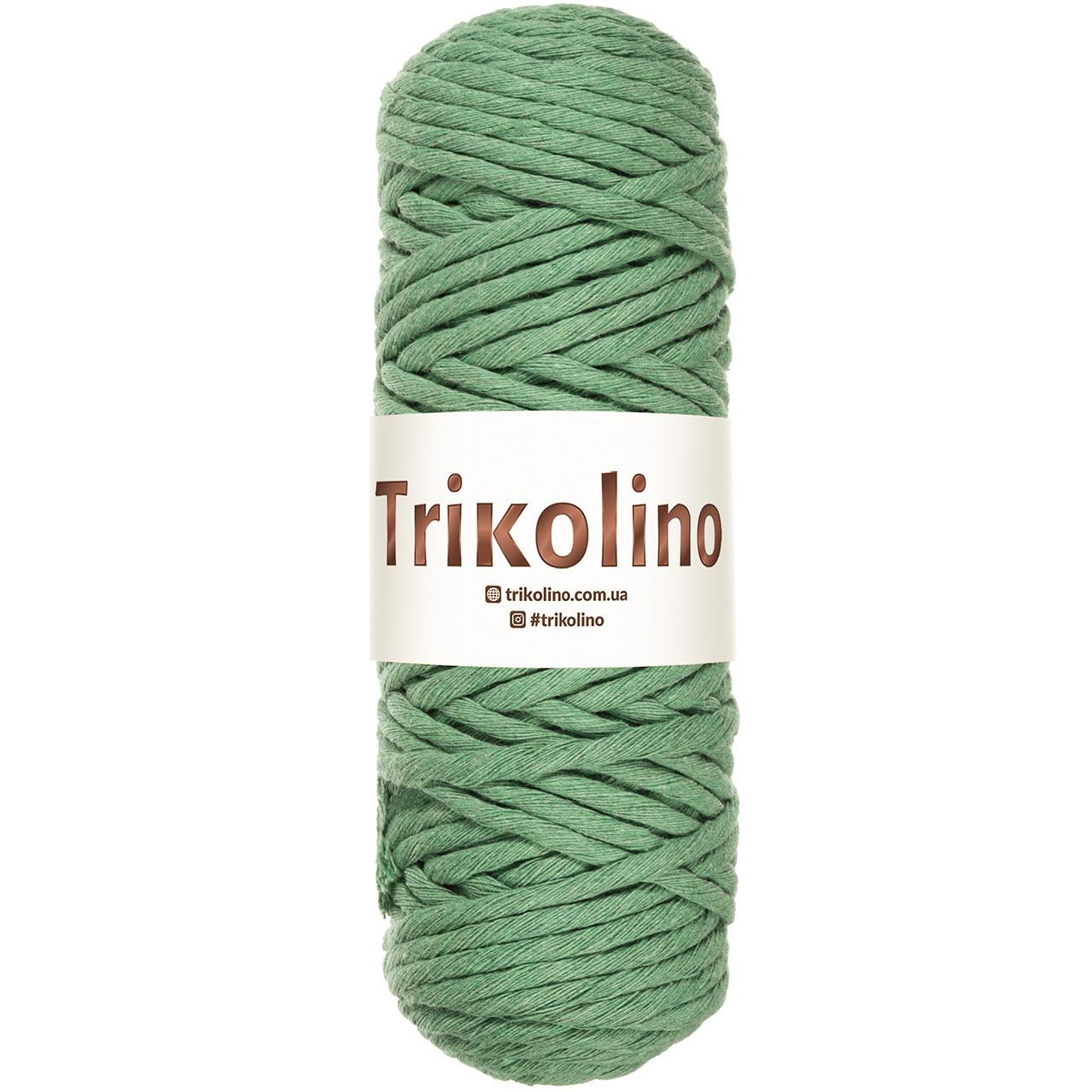 Шнур для макраме Trikolino Зеленый 4-6мм