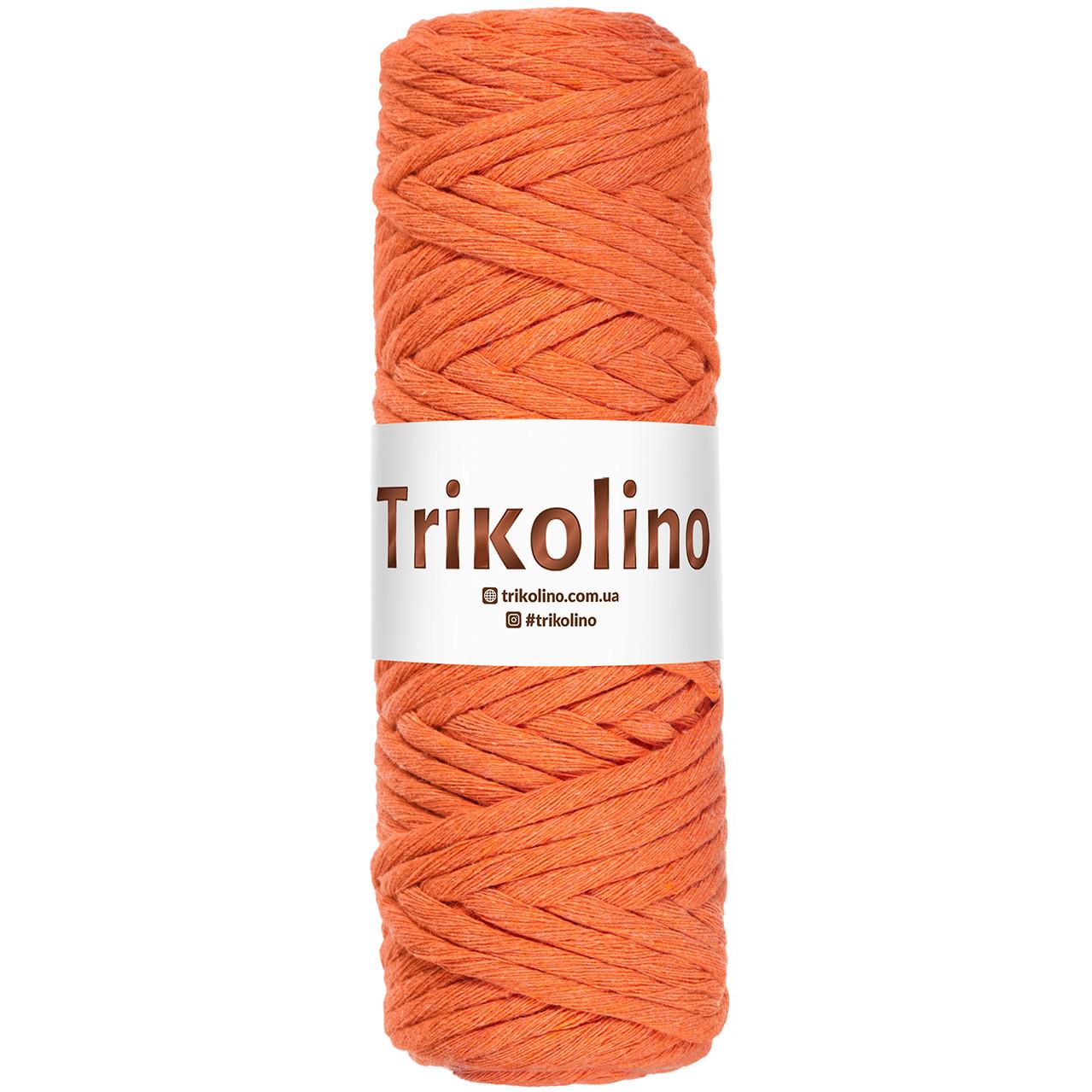 Шнур для макраме Trikolino Оранж 4-6мм