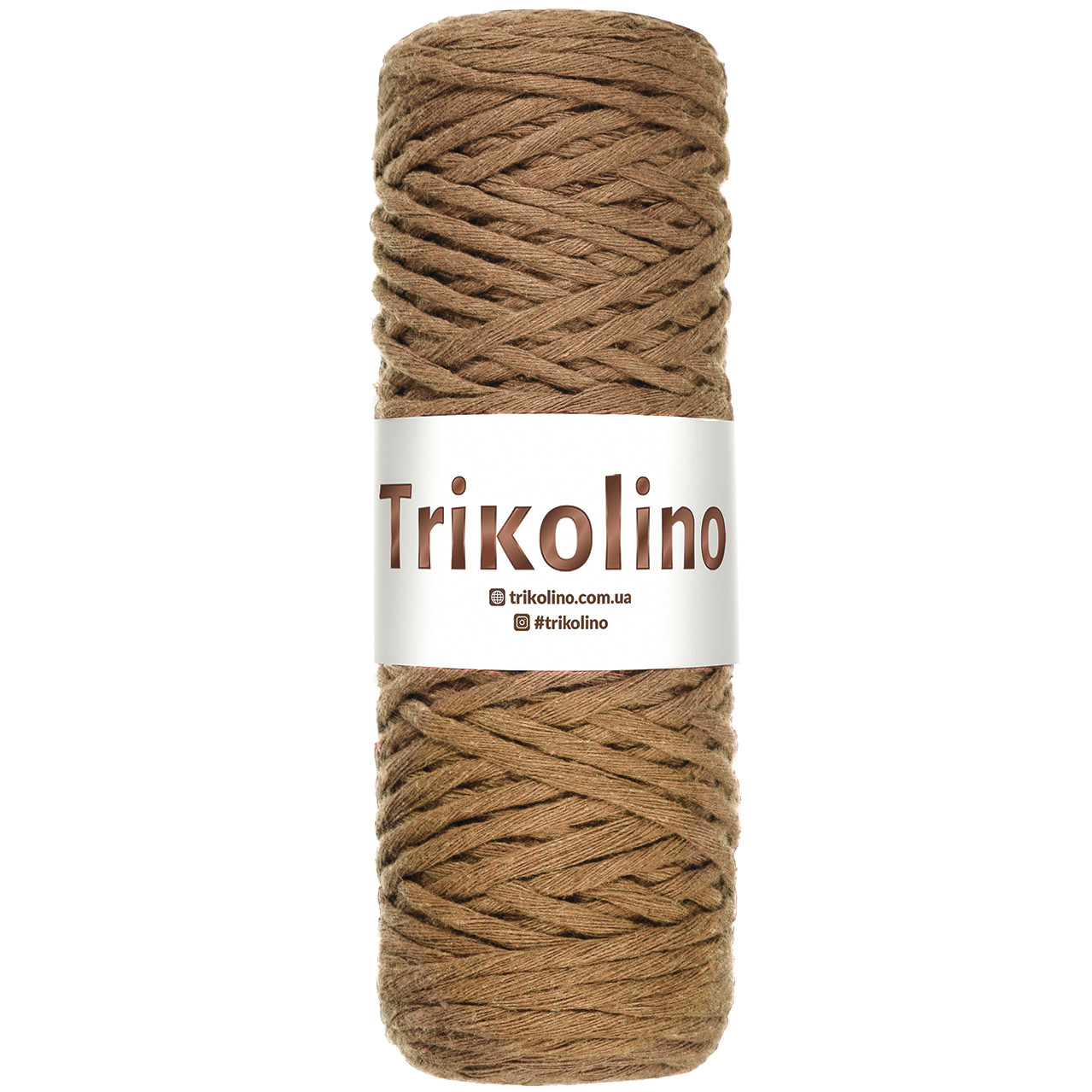 Шнур для макраме Trikolino Браун 4-6мм