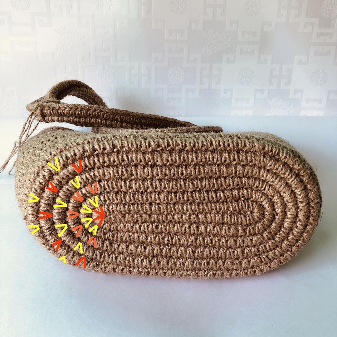 Дно сумки из джута