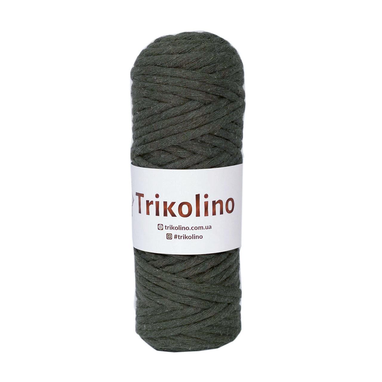 Шнур для макраме Trikolino Хаки 4-6мм