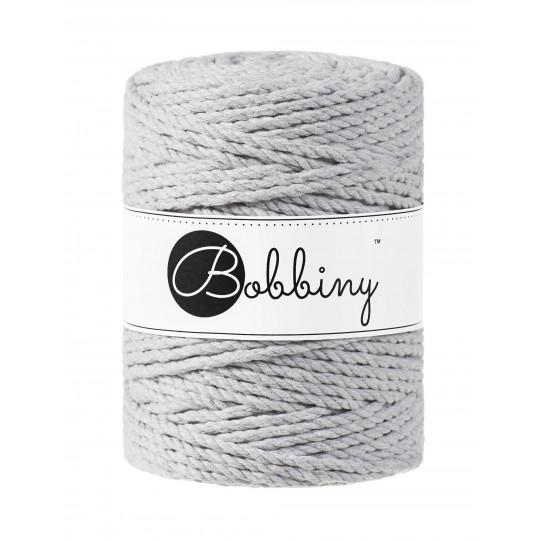 Шнур для макраме Bobbiny 3PLY Light grey 5мм