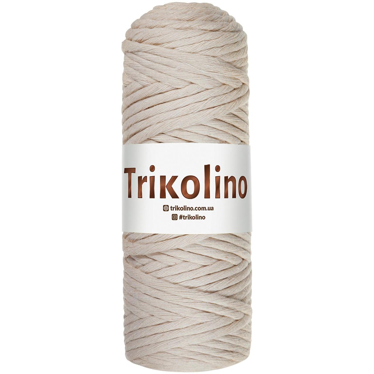 Шнур для макраме Trikolino Топленое молоко 4-6мм